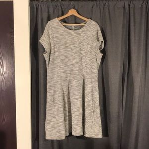 NWOT OLD NAVY XXL A-LINE GRAY MARLED DRESS